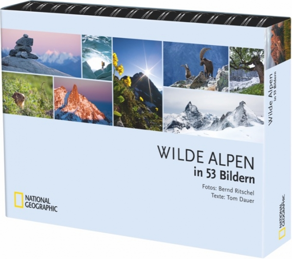 Tischaufsteller Wilde Alpen in 53 Bildern