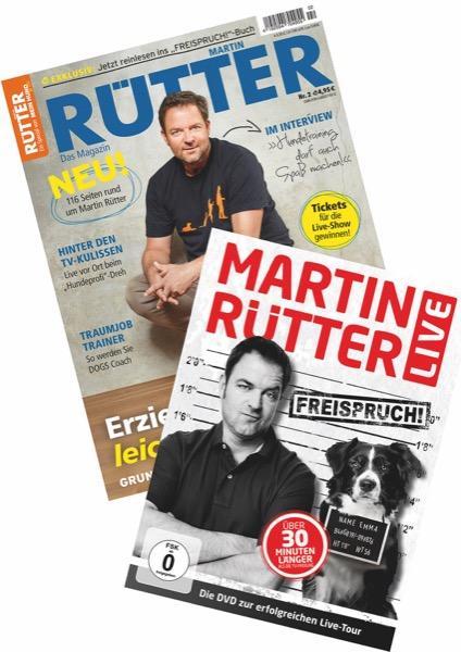 """Bundle Martin Rütter """"Freispruch!"""" DVD + Magazin"""