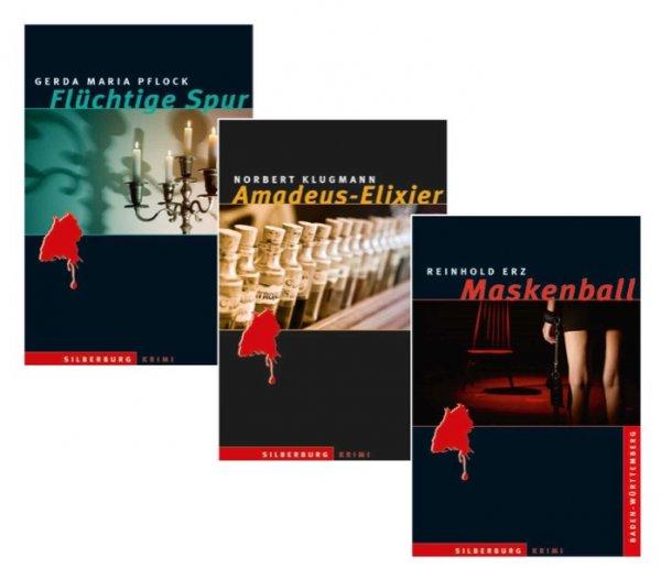 Buchpaket »Flüchtige Spur«, »Amadeus-Elixier« und »Maskenball«